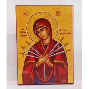 Απλή εικόνα της Παναγίας Εικόνα Εκκλησιαστικά Είδη - jeroucalim-shop.gr