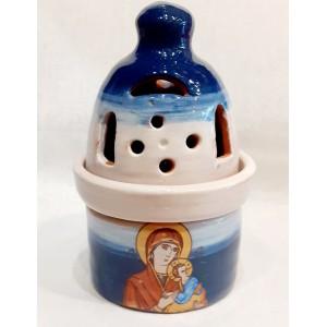 Καντήλι με σταυρό-επικάλυψη γυαλιού 2 Καντήλια Εκκλησιαστικά Είδη - jeroucalim-shop.gr