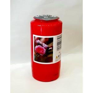 Φυτικό κερί διαρκείας 6 ημερών κόκκινο Κερί Εκκλησιαστικά Είδη - jeroucalim-shop.gr