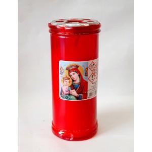 Κερί διαρκείας παραφίνη 4 ημερών κόκκινο Κερί Εκκλησιαστικά Είδη - jeroucalim-shop.gr