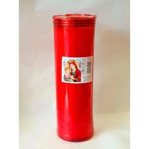 Κερί διαρκείας παραφίνη 12 ημερών κόκκινο Κερί Εκκλησιαστικά Είδη - jeroucalim-shop.gr