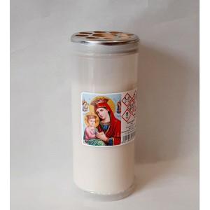 Κερί διαρκείας παραφίνη 4 ημερών άσπρο Κερί Εκκλησιαστικά Είδη - jeroucalim-shop.gr