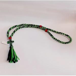 Φλος Κομποσχοίνι Μαύρο-Πράσινο Κομποσχοίνια Εκκλησιαστικά Είδη - jeroucalim-shop.gr